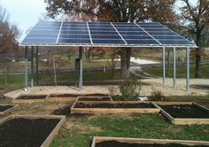 Solar Shade Cover in Back Yard