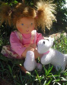 """Waldorf Dolls – SALE waldorf doll """"Maja"""" 38cm/14"""" – a unique product by craftsbyKB on DaWanda"""