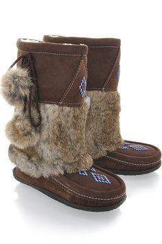 Muhluhs brown suede fur boots