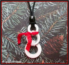 DIY ~ Snowman Washer Necklace or maybe an ornament Christmas Jewelry, Christmas Holidays, Christmas Decorations, Christmas Ornaments, Christmas Ideas, Christmas Necklace, Christmas Challenge, Snowman Ornaments, Winter Holiday