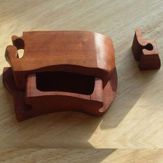 Simple Mahogany Puzzle Box