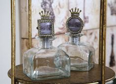 Crown Frame Bottles.. i love these as decorations