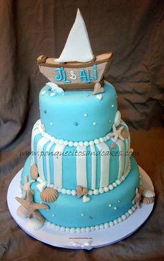 Wedding cake more white beach boats cake beach ideas cake wedding