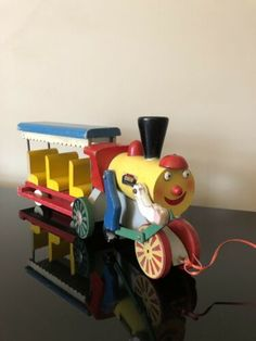 Metal Toys, Wood Toys, Brio Toys, Wooden Train, Vintage Fisher Price, Pull Toy, Train Set, Old Antiques, Cat Toys