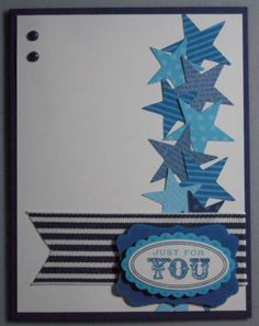 Stars in Shades of Blue by amyk3868 - Cards and Paper Crafts at Splitcoaststampers