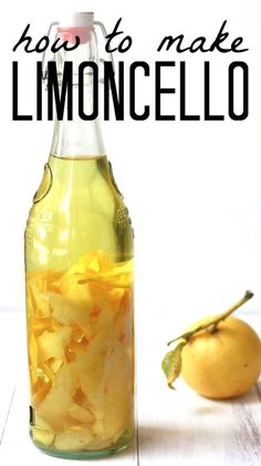 Limoncello Recipe for a classic homemade Italian digestivo. Use this homemade limoncello recipe for cocktails, DIY gifts, and dessert. Italian Limoncello Recipe, Making Limoncello, Homemade Limoncello, Homemade Liqueur Recipes, Homemade Alcohol, Homemade Recipe, Homemade Breads, Limoncello Cocktails, Strawberry Wine