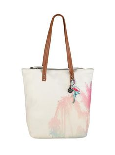 Palisade Leather Tote, Painted Palm
