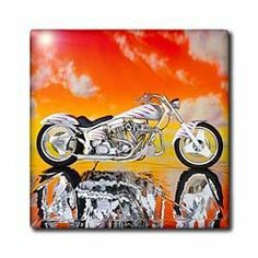 3dRose LLC ct_4489_2 Tile Picturing Harley-Davidson Motorcycle by 3dRose. $14.99. High gloss finish. Image applied to the top surface. Clean with mild detergent. Construction grade floor installation not recommended. Dimensions: 6-inch h by 6-inch w by 1/4-inch d. Tile picturing harley-davidsonand#174; motorcycle is great for a backsplash, countertop or as an accent. This commercial quality construction grade tile has a high gloss finish. The image is applied to the to...