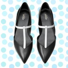 """🆕 Kate Spade T-Strap Flats Size 6.5 Brand new in box. Kate Spade Saturday black and white leather t-strap flats. Size 6.5. Pointed toe. Leather upper / metal hardware. Heel height: 0.5"""". Retail $135. SOLD OUT EVERYWHERE. *All my items are sold as-it* kate spade Shoes Flats & Loafers"""