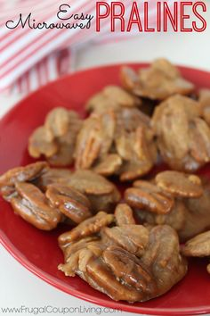 Frugal Coupon Living's Easy Microwave Pralines - Great for a cookie exchange. Simple, Quick and Easy Dessert for home. Pin to Pinterest.