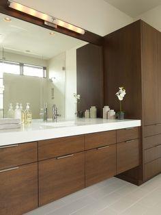 bathroom - side cabinet by vanity