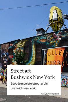 Spot de mooiste street art in Bushwick New York. Tips waar je de mooiste street art in Bushwick vindt Street Art Utopia, Street Art News, New York Travel Guide, Usa Cities, Frank Frazetta, Beautiful Streets, Spots, New York Mets, Ultimate Travel
