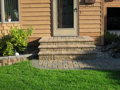 steps for front of house designs ideas | Paver Patio Project - Cobble Paver Bullnose Steps with Walkway