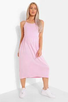 Dresses   Womens Dresses Online   boohoo UK Pink Dress, New Dress, Vestidos Color Rosa, Boohoo Dresses, Dresses For Work, Summer Dresses, Smock Dress, Fashion Face Mask, Mi Long