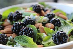The Doctor's Daughter: Blackberry & Mint Salad with Honey Lime Dressing