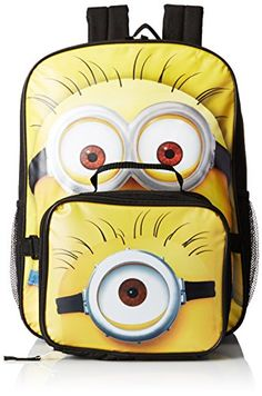 Despicable Me Boys' Despicable Me Dual Backpack With Detachable Lunch Bag Minion Style, Multi, One Size Despicable Me