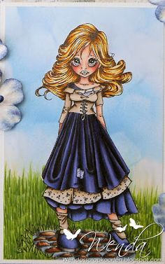 Hello copic fans, It's my turn ( Wenda ) to show you alle a card, I made this card with a digi from Saturated Canary . Copic Pens, Copic Art, Copic Sketch, Copics, Copic Markers Tutorial, Spectrum Noir Markers, Color Of The Day, Coloring Tutorial, Up Book