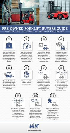 Pre-Owned Forklift Buyers Guide | Infographics Creator