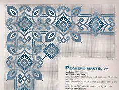 Atelier da Kátia: TOALHAS DE MESA - PONTO CRUZ