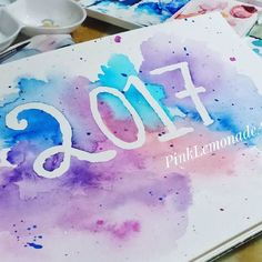 Happy new year! Here is to a creative year full of color! Galaxy  Dr. Ph Martin Canson watercolor paper Cotman Winsor and newton