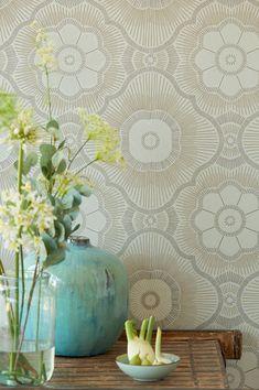 Wallpaper Art Deco, How To Hang Wallpaper, View Wallpaper, Painting Wallpaper, Wallpaper Samples, Pattern Wallpaper, Motifs Art Nouveau, Palm Tree Art, Art Deco Stil