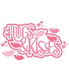 Hugs & Kisses Title SVG scrapbook cut file cute clipart files for silhouette cricut pazzles free svgs free svg cuts cute cut files