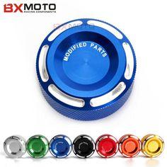 Fashion Motorcycle accessories CNC Blue Rear Brake Fluid Reservoir Cover Cap For Yamaha R3 R25 YZF R1 R6 MT 07 MT 09 mt-09 mt03