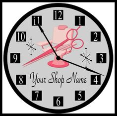 Beauty Shop, Beauty Salon, Hair Stylist Or Hairdresser Pink / Teal Blue Personalized Business Shop Wall Decor Clock. Exclusively By Simply Southern Gift. Classy Hairstyles, Diy Hairstyles, Clock Decor, Wall Decor, Personalized Clocks, Salon Quotes, Beauty Salon Decor, Home Salon, Hair Shop