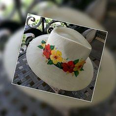 Chapéu palha costumizado