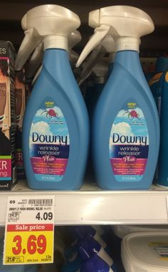 BIG Bottle of Downy Wrinkle Releaser only $1.69 at Kroger after Sale and Coupon! - http://www.couponaholic.net/2015/04/big-bottle-of-downy-wrinkle-releaser-only-1-69-at-kroger-after-sale-and-coupon/