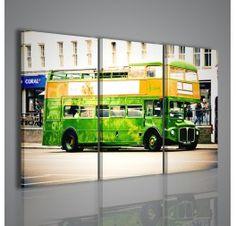 Una stampa su tela di un autobus londinese