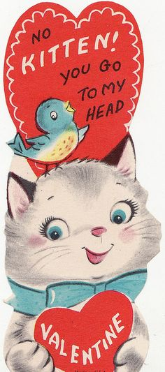 Classroom Valentine's cards are full of fun memories.  Scan of a card from my personal collection.  Please do not redistribute these graphics or sell them as your own in their original or slightly altered style.  Thanks!