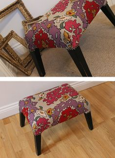 Funky Patterned Footstool from theGreenSuitcaseCo £55 Vanity Bench, Suitcase, The Originals, Green, Furniture, Design, Home Decor, Decoration Home, Room Decor