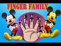 mickey mouse Finger Family rhyme - Finger Family Nursery children educational English rhyme cartoon Animals finger family song for preschool kindergar. Finger Family Rhymes, Rhymes For Kids, Kids Songs, Mickey Mouse, Nursery, 3d, Children, Funny, Youtube