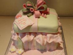 Gift box celebration birthday cake
