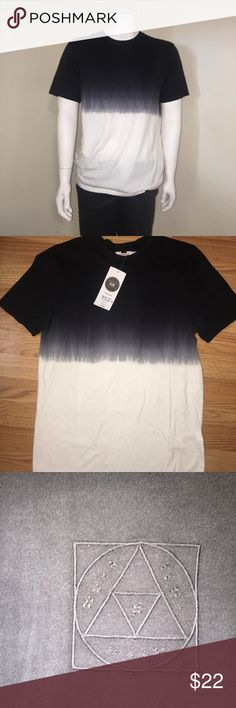 Topman Ombre Fade Black & White Ombre typographic print t-shirt, with a slim fit. 🎱  ✔️New with tags ✔️Never worn ✔️crew neck with short sleeves ✔️65% polyester, 35% cotton Topman Shirts Tees - Short Sleeve