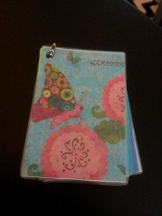 My Homemade Mini Address Book for new friends they meet at the convention! diff pics on the cover