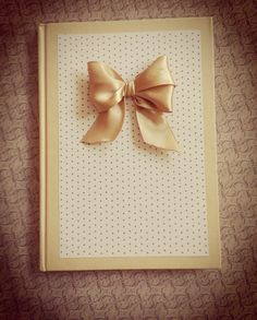 ♥ cute handmade notebook with double bow ♥