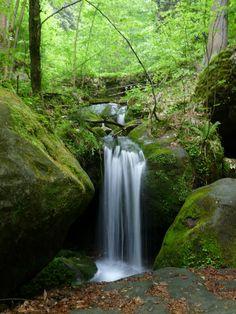 Wodospady Pośny, Góry Stołowe, Poland