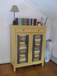 Ikea Linen Cabinet - Home Furniture Design Linen Cabinet, Cabinet Doors, Home Furniture, Furniture Design, Painted Books, Ikea, Storage, Room, Painting