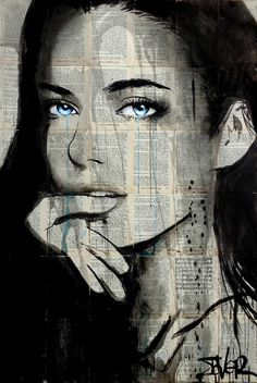 Buy Prints of find, a Ink on Paper by LOUI JOVER from Australia. It portrays: Women, relevant to: louijover, jover, contemporary, bookpages, ink inks on vintage book pages adhered together to make one sheet ready for framing as desired