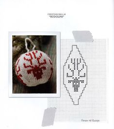 Knitting pattern for basic Christmas ball ornamentThis post may contain affiliate links. Knit Christmas Ornaments, Frugal Christmas, Christmas Knitting, Christmas Cross, Christmas Decorations, Christmas Templates, Christmas Printables, Fair Isle Chart, Crochet Ball