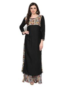 Flaunt sartorial elegance as you wear this Black Colour kurta from the house of Castle. Exclusively designed, this kurta with regular fit will enhance your curves and soft Rayon will keep you comfortable. This attractive�kurta will surely fetch you compliments for your rich sense of style.