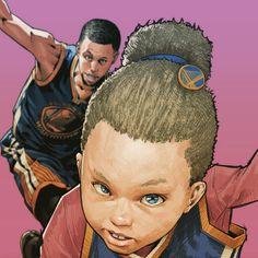 Riley x Stephen Curry Dynamic Duo Illustration