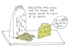 Tags Cheese Drawing Grater Illustration Cheese Jokes, Cheese Drawing, Cheese Grater, Food Puns, Grated Cheese, Famous Last Words, Sayings, Illustration, Funny