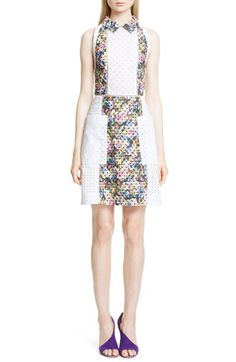 MARY KATRANTZOU Floral Print Broderie Anglaise Shirtdress. #marykatrantzou #cloth #