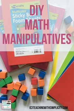 Upper Elementary Snapshots: DIY Math Manipulatives
