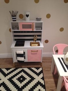 Custom Painted Ikea Childrens Kitchen- Made to Order! Your Lil One will feel right at home with His/Her Custom Kitchen! This item is made to fit