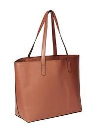 Classic Faux-Leather Tote for Women