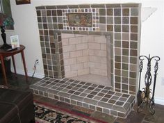 Batchelder Tile Fireplace